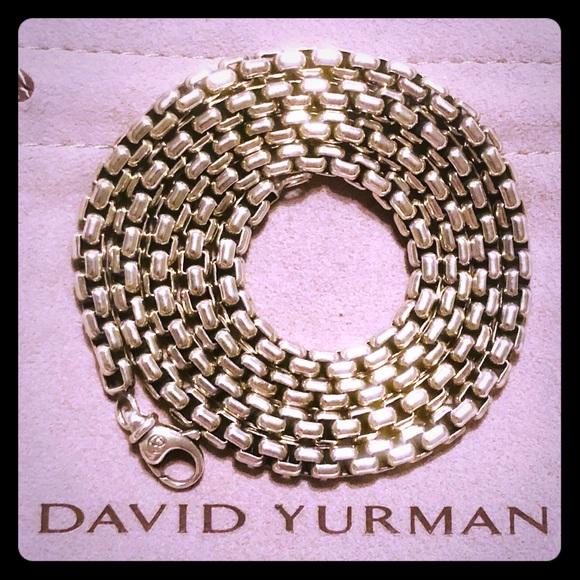 "David Yurman Other - David Yurman 24"" Large Sterling Silver Box Chain"